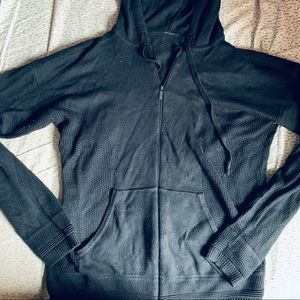 Lululemon zip Sweater with hoodie and knit panels